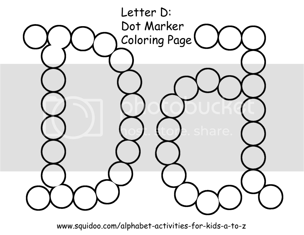 Letter D Dot Marker Coloring Page 2 Photo By Roamingrosie