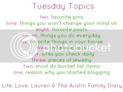 The Austin Family Diary