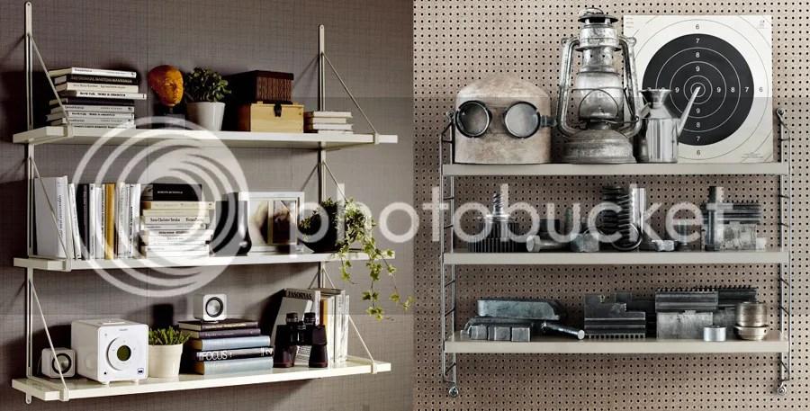 Ikea EKBY og String hylder