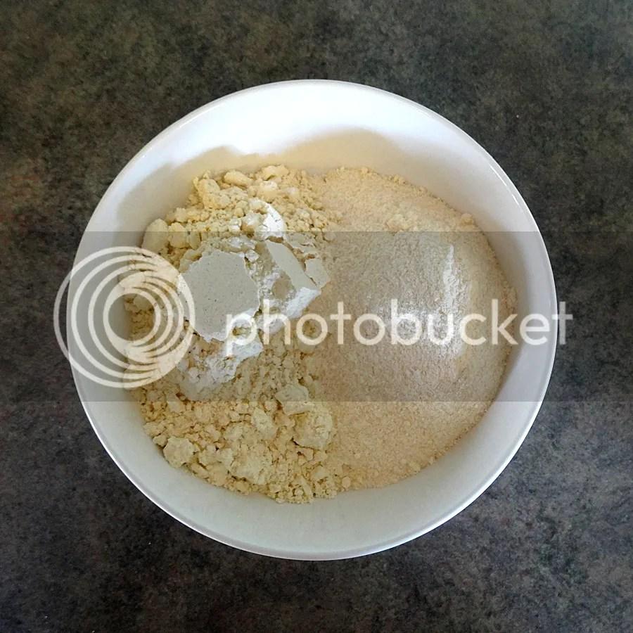 Bowl of gluten free flours