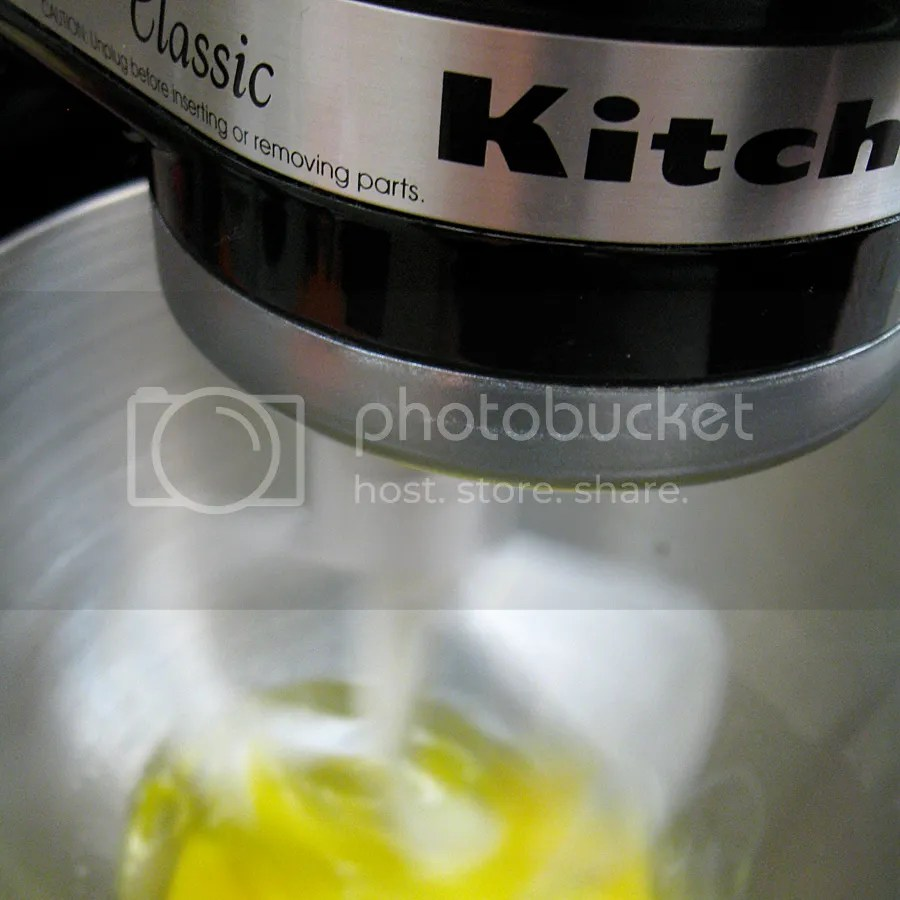 Oil, eggs, and vanilla mixing