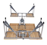 Wood Folding Picnic Table Indoor Outdoor Picnic Portable ...