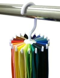 Rotating Tie Rack Adjustable Tie Hanger Holds 20 Neck Ties ...