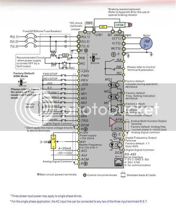 3HP 2.2KW Delta VFD Inverter VFD022B43B AC Motor Driver