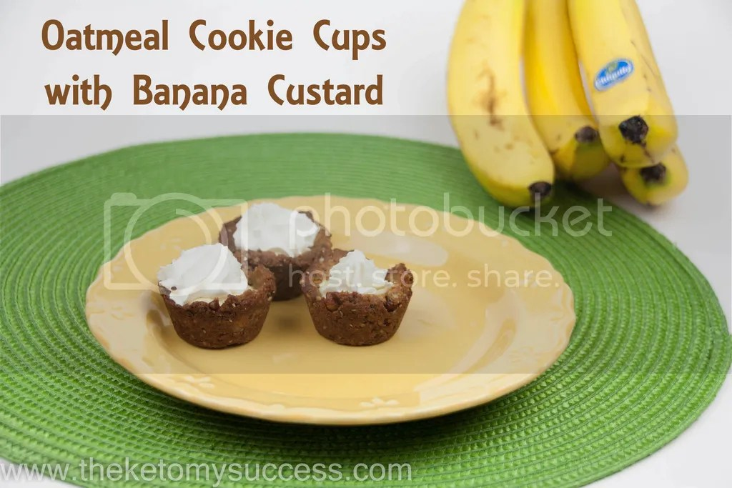 """Oatmeal"" Cookie Cups with Banana Custard"