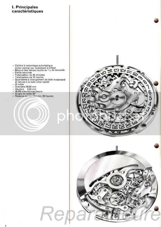 Calibre Zenith El Primero 3019 PHC Rolex Daytona 4030