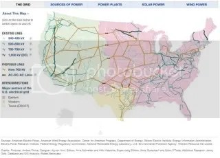 Interactive power grid map from NPR