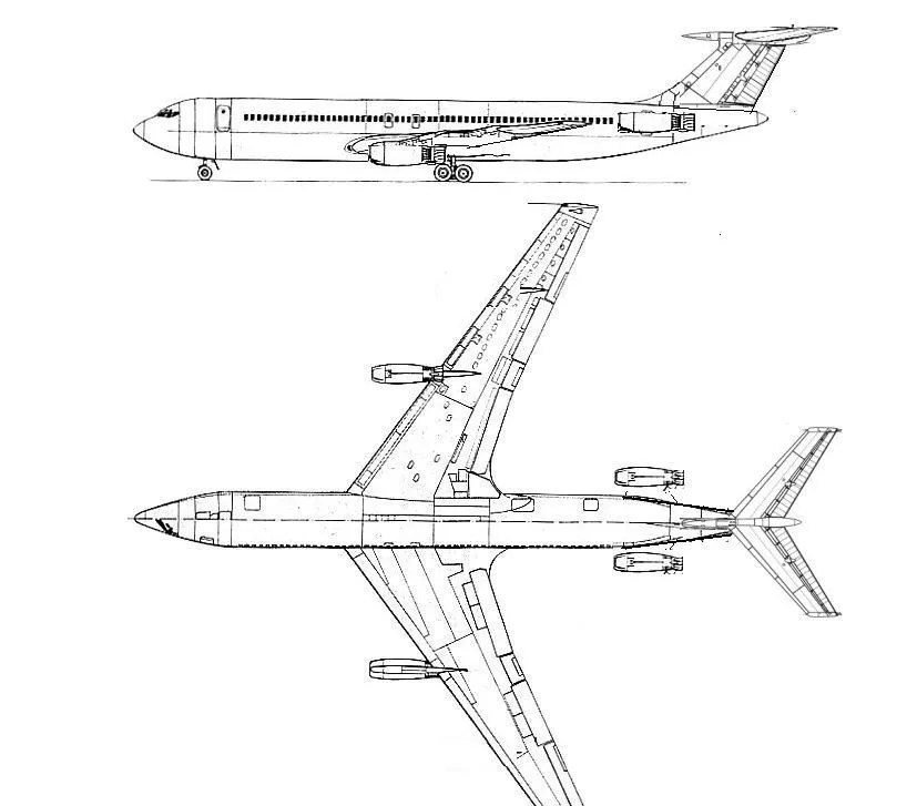 Boeing 707, 727 and 737