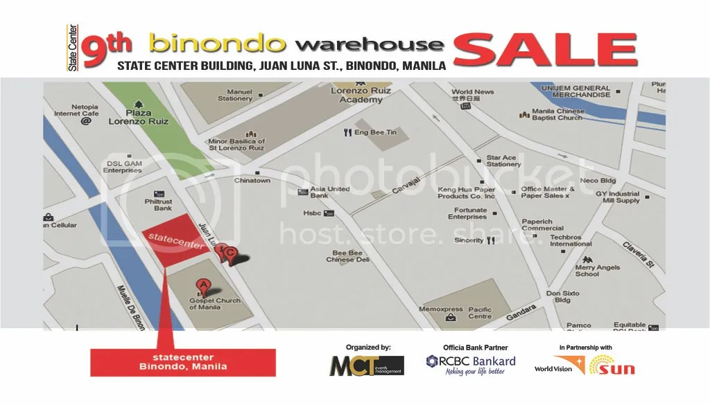 56707f63c9a6 This will be an early bargain sale for those hunting favorite brands. State  Center is just a stone throw away from Binondo Church .
