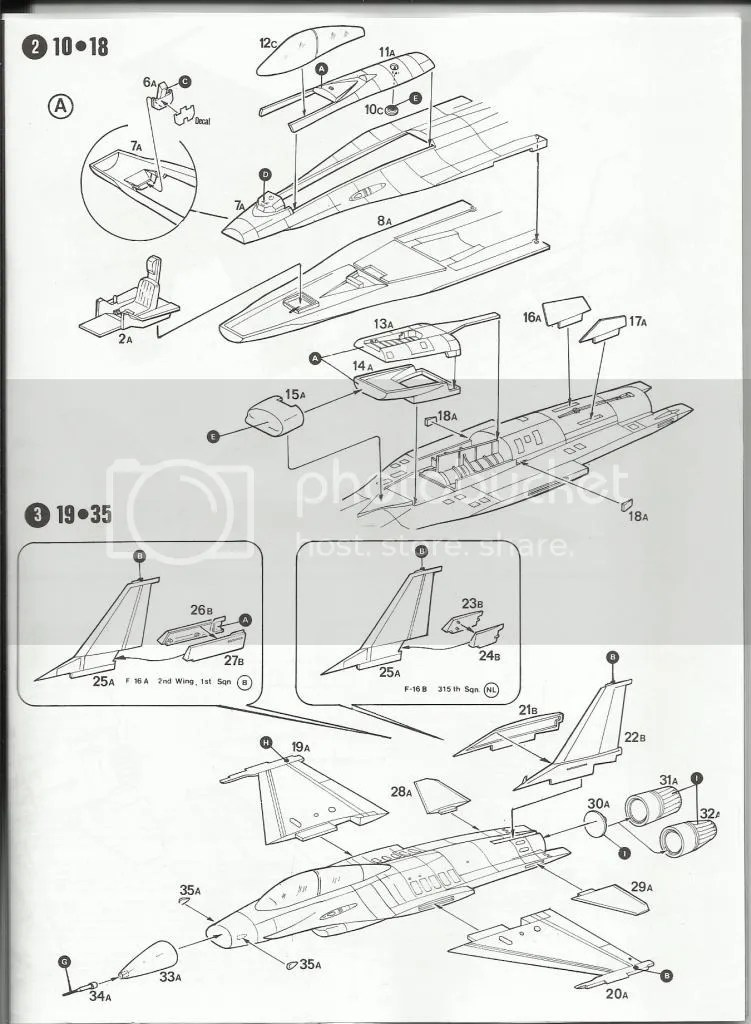 F 16 3 View Drawing