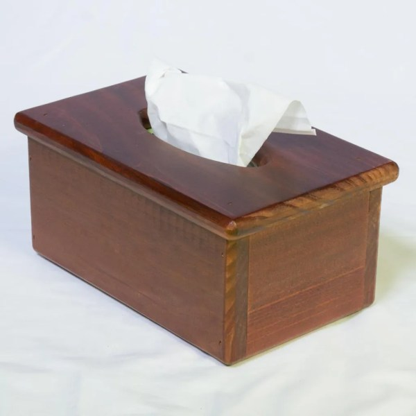 Wooden Tissue Box Holder - Cover Rectangular Facial