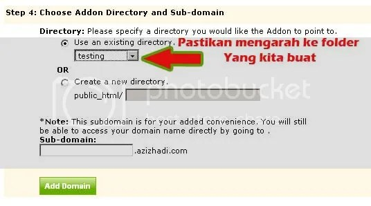 Check Add On Domain Folder