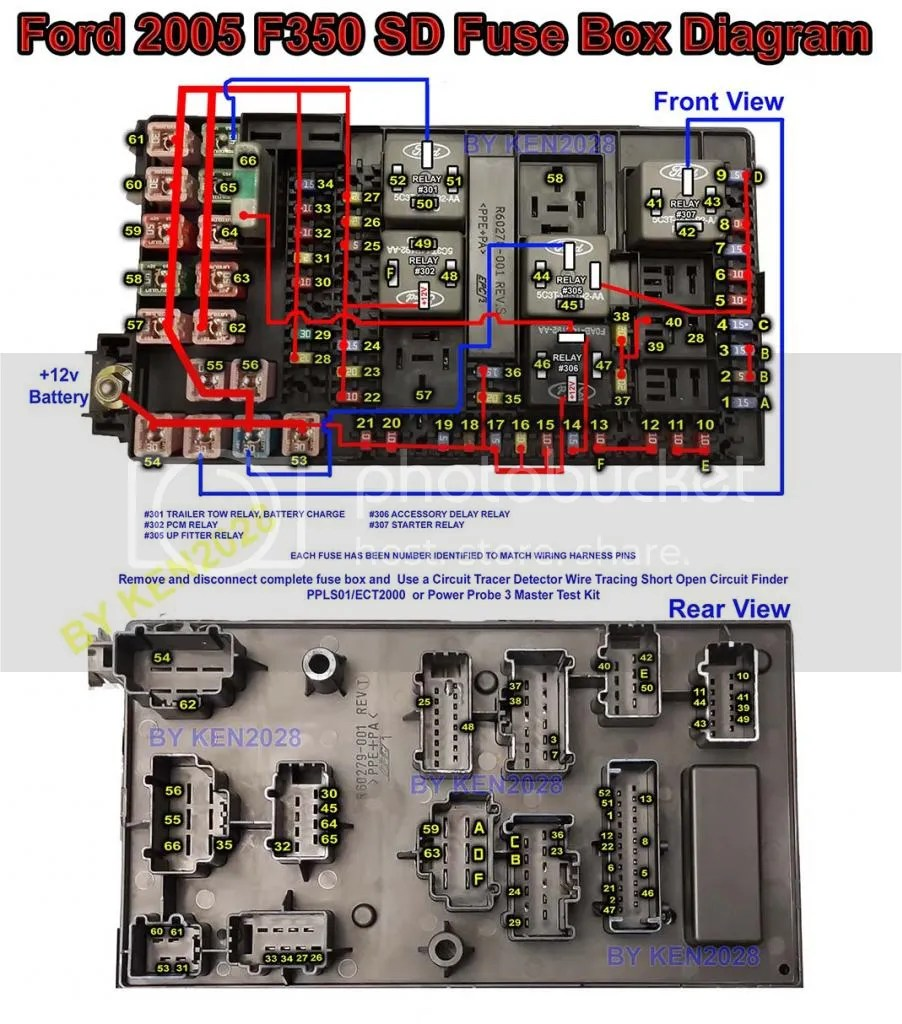 Ford F350 Fuse Panel Diagram Likewise 2002 Ford F450 Fuse Panel