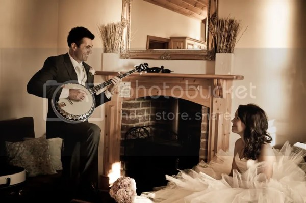 Groom Serenading Bride