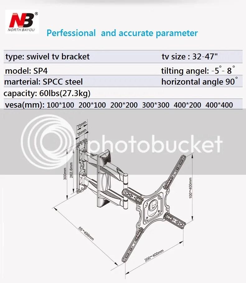 BRACKET SWIVEL NB P4 (32″ – 46″) – BRACKET LCD LED NORTH BAYOU