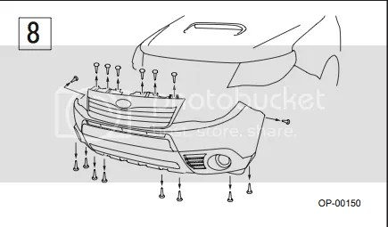 Service manual [How To Remove 2011 Subaru Tribeca Bumper