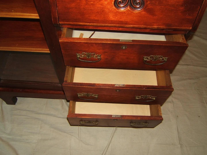 General Furniture Antique Secretary Desk Darktone Stain