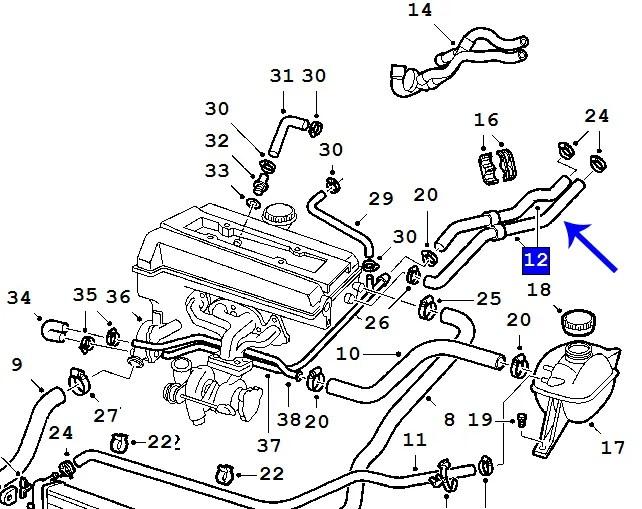 1999 Saab 9 3 Turbo Parts Diagram, 1999, Free Engine Image