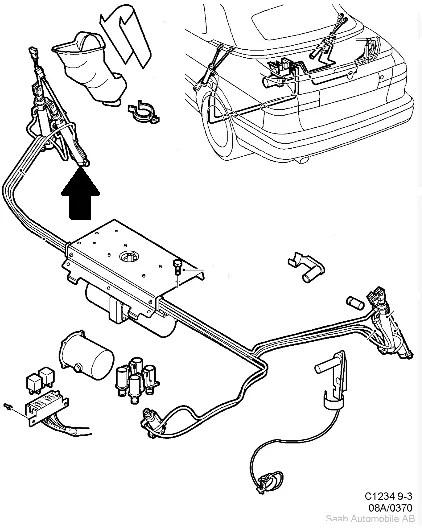 Main Roof Ram Inner Left Saab 9-3 Convertible 98-02