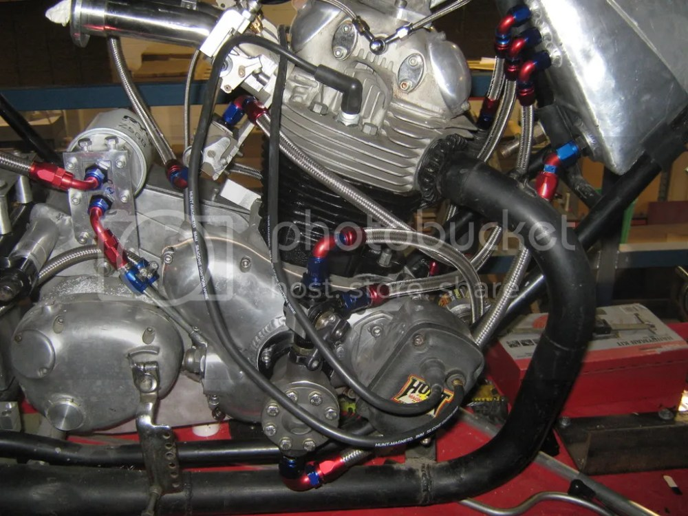 medium resolution of tidied up the plumbing on the norton