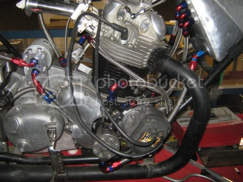small resolution of tidied up the plumbing on the norton
