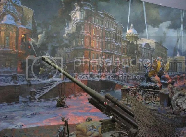 Image result for Siege of Leningrad. Diorama at the Museum of the Great Patriotic War of St. Petersburg.