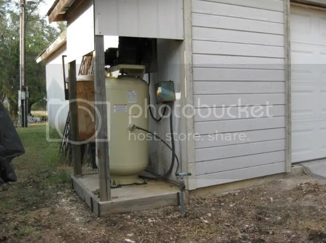 Air Compressor Outside Winter