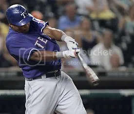 Marlon Byrd hit 2 homeruns against the Angels on Tuesday, leading Texas to a big win.