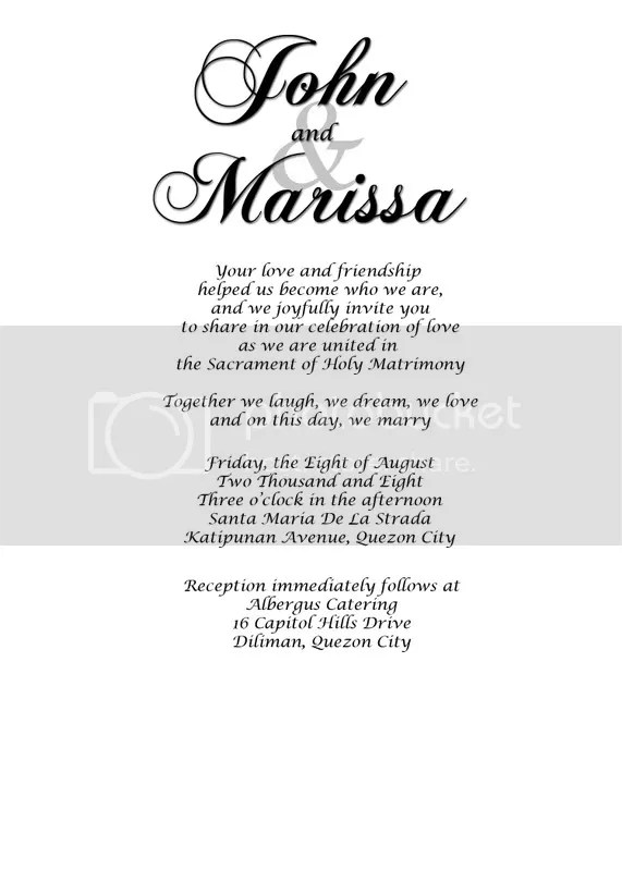 John and Marissa Invitation 1
