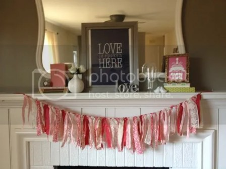 scrap fabric valentines garland