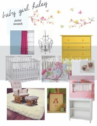 honeysuckle: baby girl nursery mood board