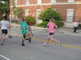 Me crossing the finish line at the Tomorrow's Children 5K Fun Run/Walk - Frankfort, Kentucky