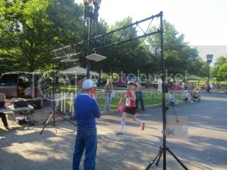 Me crossing the finish line of the Capital City Stampede 10K - Frankfort, Kentucky