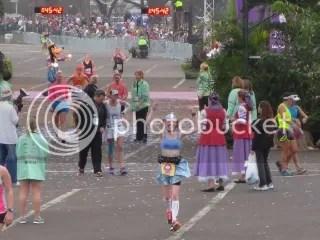 Me after crossing the finish line of the Disney Princess Half Marathon - Orlando, Florida