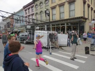 Me crossing the finish line of the Pro.Active For Life 5K - Frankfort, KY.