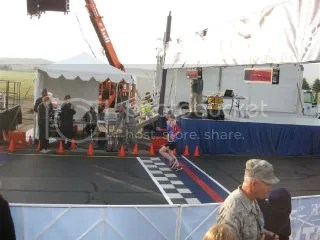 Me crossing the finish line of the Air Force Marathon 10K - Dayton, Ohio