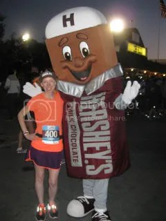 Me and the Hershey Bar before the start of the Hershey Half Marathon