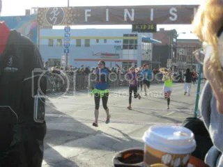 Me crossing the finish line of the Hot Chocolate 15K - Columbus, Ohio