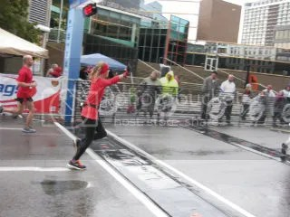 Me crossing the finish line of the Louisville Sports Commission Half Marathon – Louisville, Kentucky
