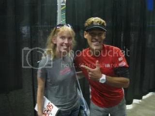 Me with Dean Karnazes at the Air Force Marathon Race Expo