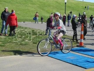 Me starting off on the 8 mile bike portion of the Floyd County YMCA Tri-At-The-Y Super Sprint Triathlon