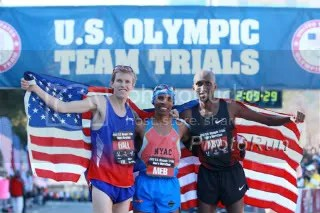 Ryan Hall, Meb Keflezighi, and Abdi Abdirahman