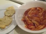 Lexington Pasta Gluten-Free Fusilli (in marinara) with Gluten-Free Rosemary Cheddar Biscuits
