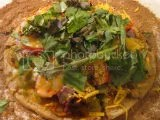 Gluten-Free and Vegan Tostada Pizza (using Wild Garden Traditional Hummus as a base)