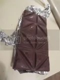 Dark Chocolate Dreams Raspberry Dark Chocolate Bar (unwrapped)