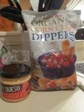 Trader Joe's Gluten-Free Queso Cheese Dip with Trader Joe's Organic Corn Chip Dippers