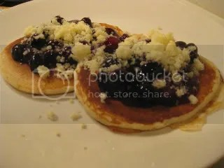 Gluten-Free Lemon Streusel Pancakes with Berry Compote
