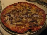 Harry & Izzy's Gluten-Free Thin Crust Pizza (topped with cheese, caramelized onion, and mushrooms)