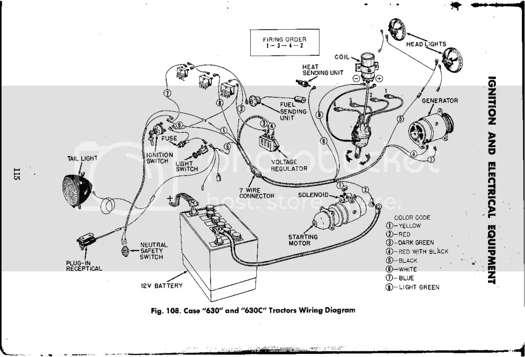 A Case Tractor Wiring Diagram For Alternator. A. Wiring