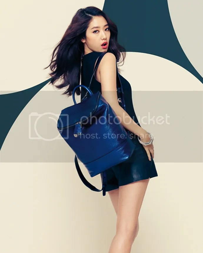 Park Shin Hye Kicks Up And Flashes Her Gams For BRUNOMAGLI